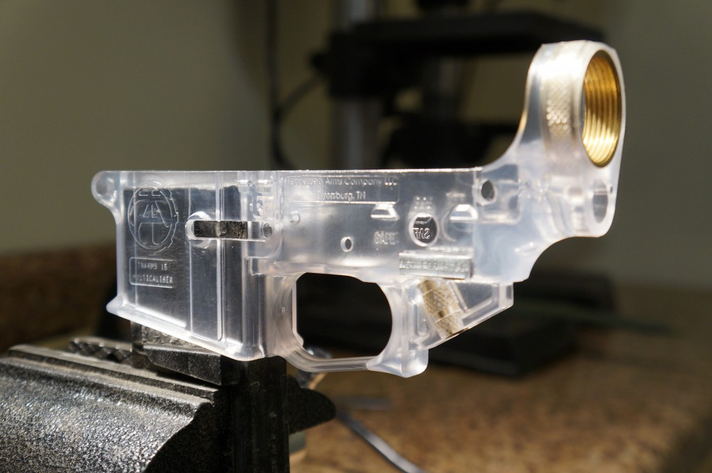 TN Arms prototype translucent polycarbonate hybrid lower!