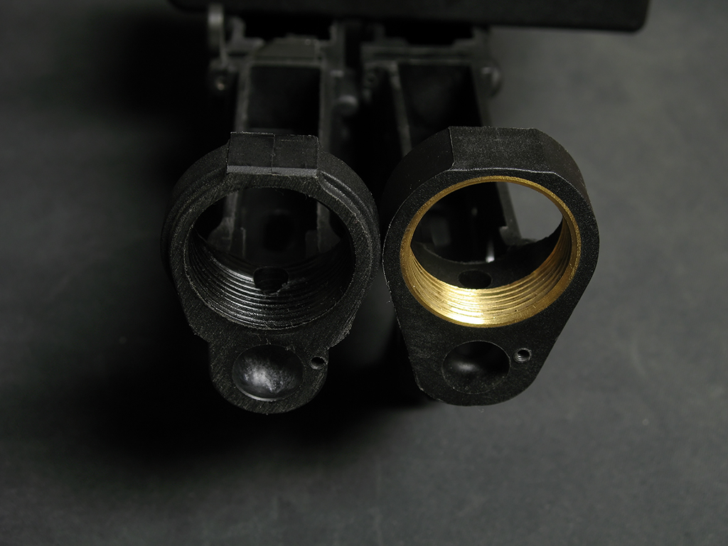 TN Arms' brass inserts compared to the LW-15