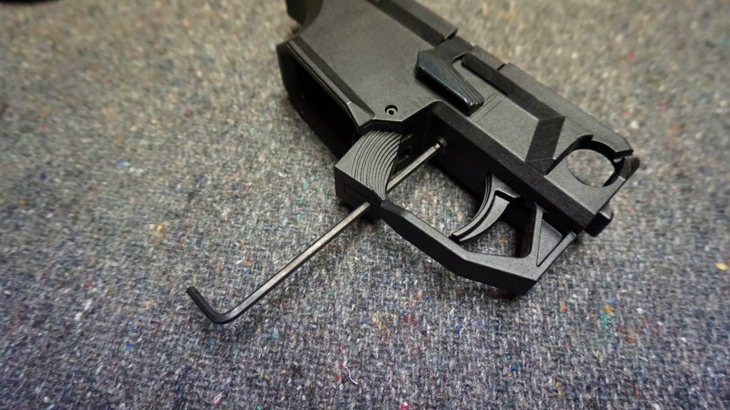 Convenient hole in the trigger guard.