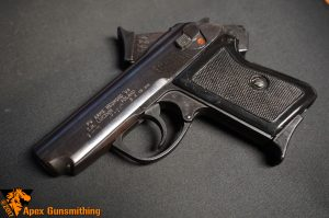 The P-64 is an all-steel handful of pistol.